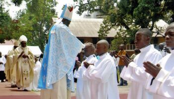 CONGO / BRAZZAVILLE 17/00446 Formation of 83 major seminarians of the Archdiocese of Brazzaville (2016-2017). Used as Illustration for the Internet Project Congo/Brazzaville 18/453  PrID: 1803349